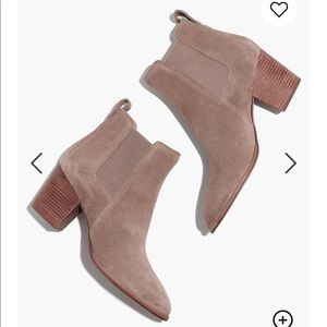 Madewell The Regan Boot in Suede Size 8